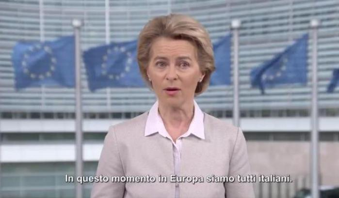 """Ursula von der Leyen: """"Siamo tutti italiani"""""""