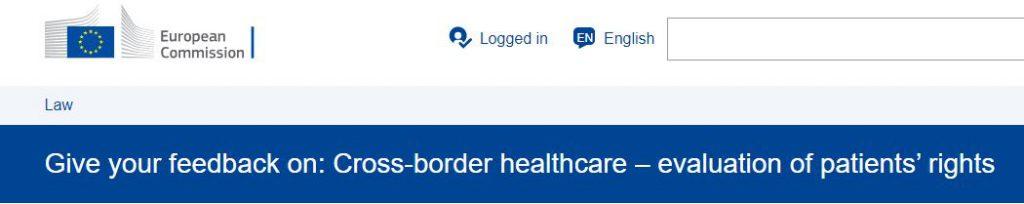 Sanità transfrontaliera e Commissione Europea: coinvolti anche i cittadini europei!